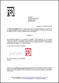 Certificado del Seguro de Antenas